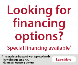 Looking for financing options? Special Financing Available through Wells Fargo